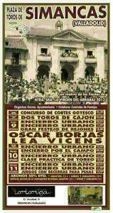 Cartel toros Simancas