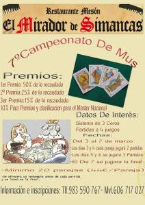 Cartel campeonato de mus