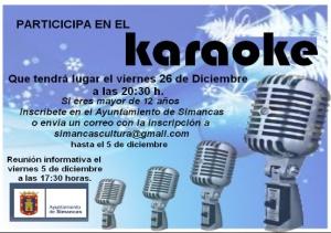 Cartel karaoke