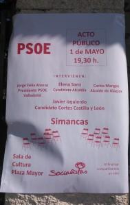 Cartel PSOE
