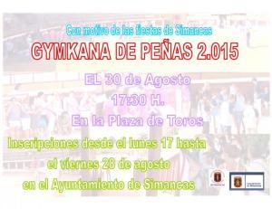 Cartel gymkhana de peñas de Simancas 2015