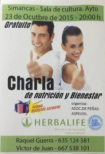 Cartel Charla Simancas