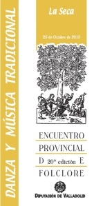Cartel XX Encuentro Folclore Diputación Valladolid