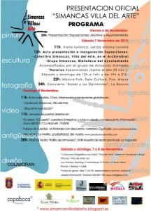 Cartel Programa Presentación Simancas Villa del Arte