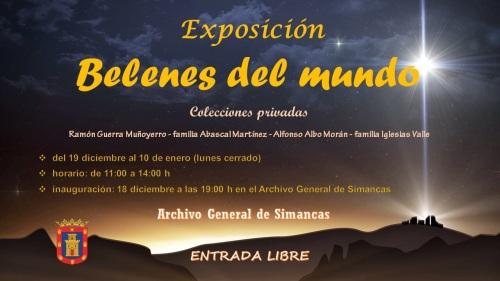 Cartel exposición belenes Archivo General de Simancas