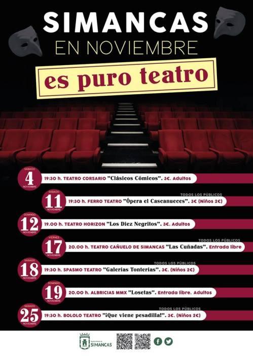 Teatro en noviembre