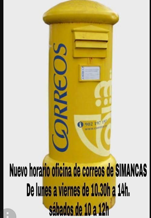 Horario Correos Simancas