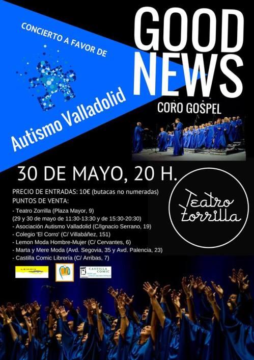 Concierto Gospel a favor de Autismo Valladolid
