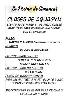 Clases de Aquagym